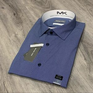 Michael Kors Casual Dark Blue Button Down Shirt